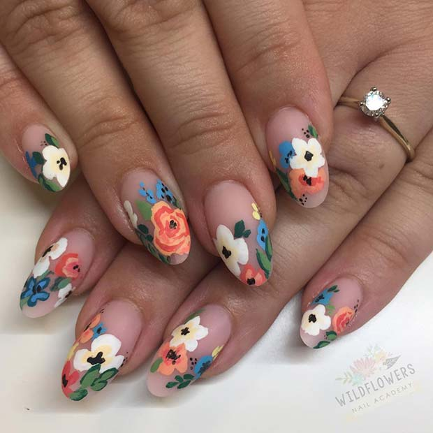 Chic-Floral-Spring-Nails