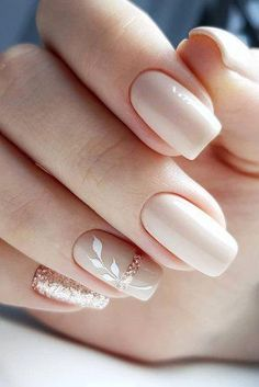 wedding day nails for bride