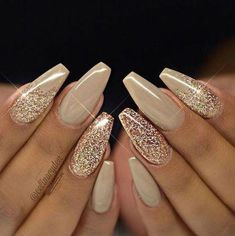 brides nails for wedding